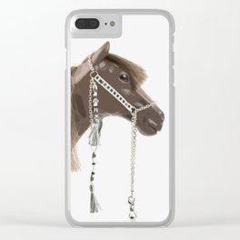 Tall Exotic Horse Clear iPhone Case