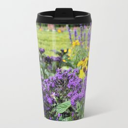 Purple and yellow Flowers Travel Mug
