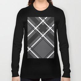 Jumbo Scale Men's Plaid Pattern Long Sleeve T-shirt