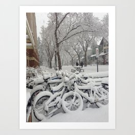 Babe, its cold outside Art Print