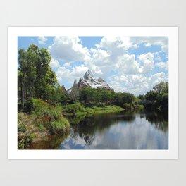 Disney's Animal Kingdom Everest 1 Art Print