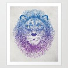 Face of a Lion Art Print
