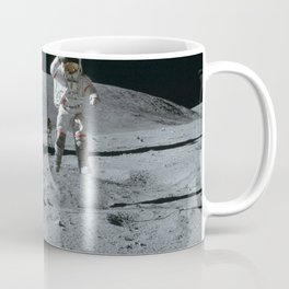 Apollo 16 - Astronaut Moon Jump Coffee Mug