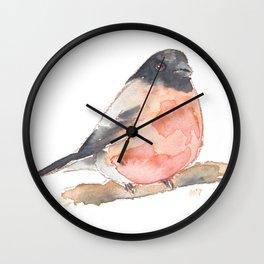 Clarence the Bullfinch Wall Clock