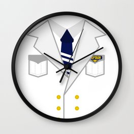 Boat Pontoon Sailing Captain Costume design Gift Wall Clock