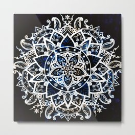 Radiant Zen Glowing Mandala Metal Print