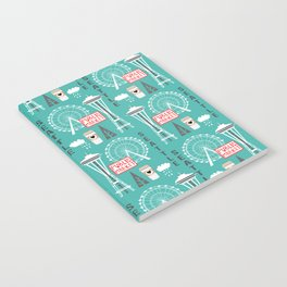 Seattle travel art cute decor for nursery kids room pattern girls or boys Notebook
