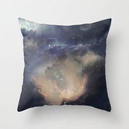 GOLD NEBULA Throw Pillow
