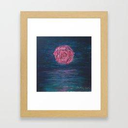 Moonlight Rose Framed Art Print