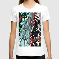 heavy metal T-shirts featuring Abstract Heavy Metal Rocks by Saundra Myles