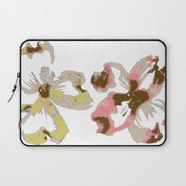 Silk Screen Floral Laptop Sleeve