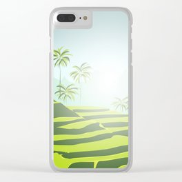 Tegalalang Rice Terraces, Bali, Indonesia Clear iPhone Case