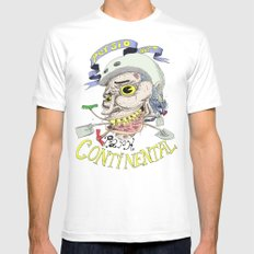 Park Continental MEDIUM White Mens Fitted Tee