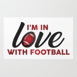 I'm in LOVE with FOOTBALL Rug