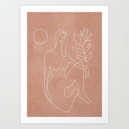 Engraved Nude Line II Art Print