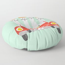 The four amigos Floor Pillow