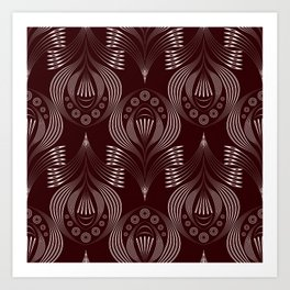 Brown decor Art Print