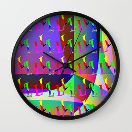 L - pattern a Wall Clock