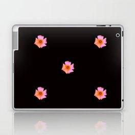 Pink Pansies on Black by Aloha Kea Photography Laptop & iPad Skin