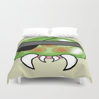 metroid Duvet Covers featuring Metroid Gear Solid by Mega8