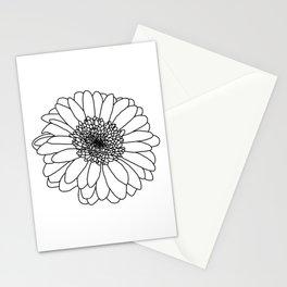 Gerbera Outline Stationery Cards