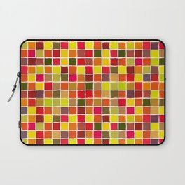 Colorful red yellow squares Laptop Sleeve