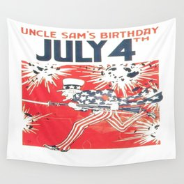 4th of July - Uncle Sam Wall Tapestry