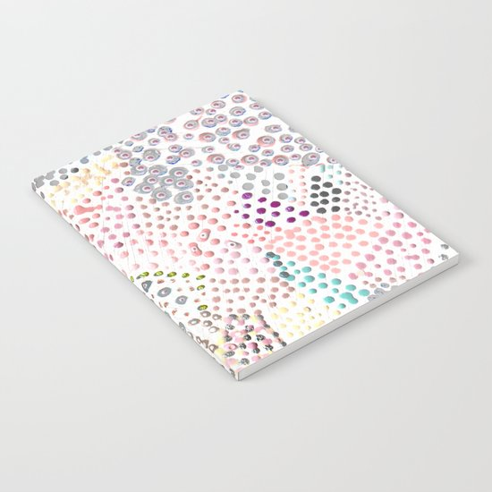 Mermaid Rainbow Dots Colorful Abstract Gems Notebook
