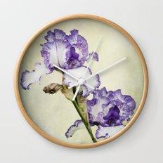 Iris Ripple Wall Clock