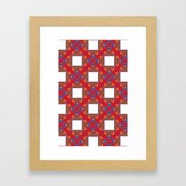 Czerwony Framed Art Print