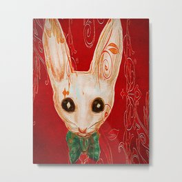 Benny the White Rabbit Metal Print