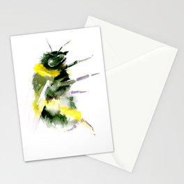 Bumblebee minimalist bee decor Stationery Cards