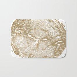 Sundance Pine, Tree ring print Bath Mat