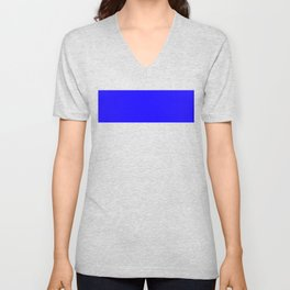 1200ff Blue Unisex V-Neck