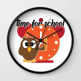 Time for school Wall Clock