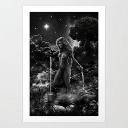 XVII. The Star Tarot Card Illustration Art Print