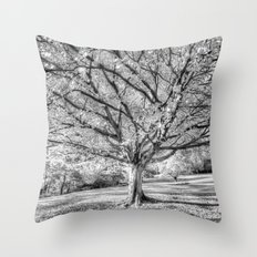 The Ghost Tree Throw Pillow