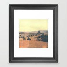 Mountain Range Polaroid Framed Art Print