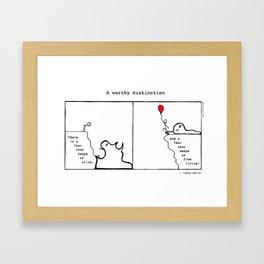 A Worthy Distinction Framed Art Print