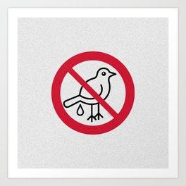 Birds Sign Logo 2 Art Print