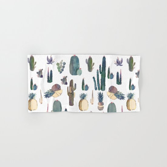 My best Cactus and Pineapples!!!! Hand & Bath Towel