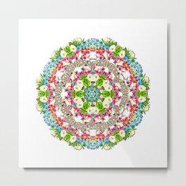 Flowers Cyrcle Metal Print