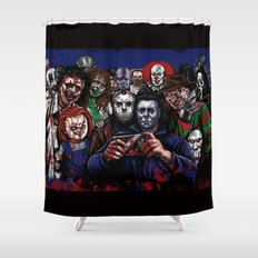 Horror Villains Selfie Shower Curtain