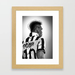 Paul Pogba #10 Juventus Framed Art Print