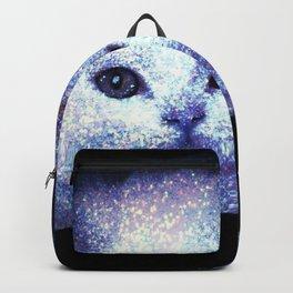 Cat white glitter Backpack