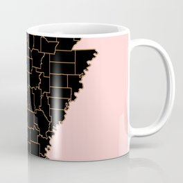 Arkansas map Coffee Mug