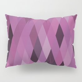 Muted Berry Color Harlequin Pattern Pillow Sham