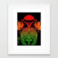 samus Framed Art Prints featuring samus by Sixtybones