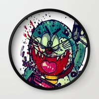 hell Wall Clocks featuring HELL! by Stefano Cardoselli