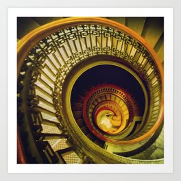 Day Forty-Two: Pretty Amazing Stairs! Art Print